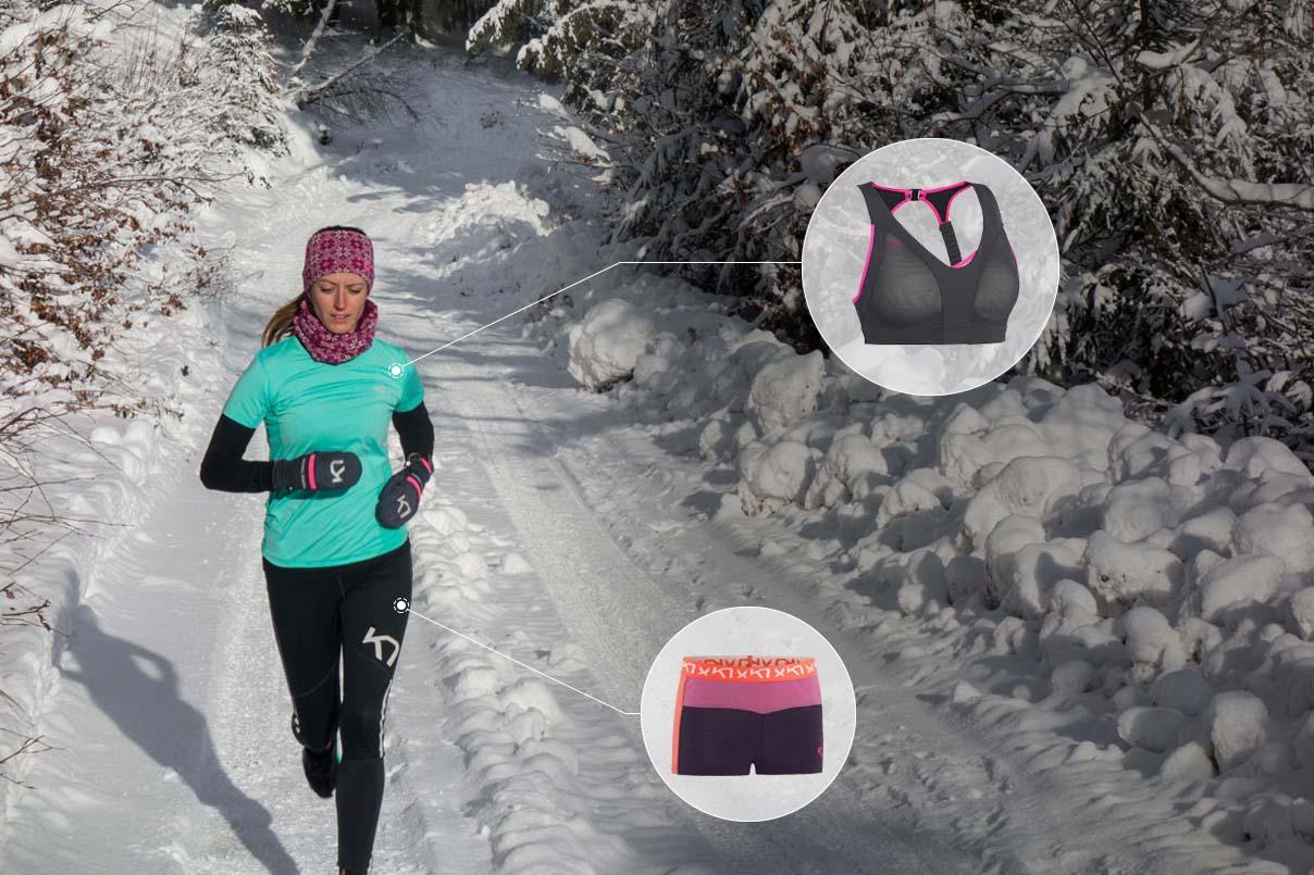 základna vrstva na zimný beh pre ženy