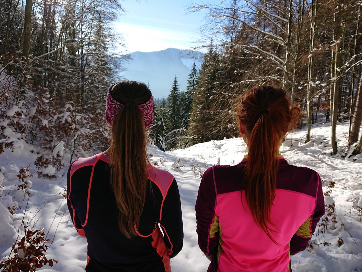 Karitraa zimné bežecké oblečenie pre ženy merino tričko