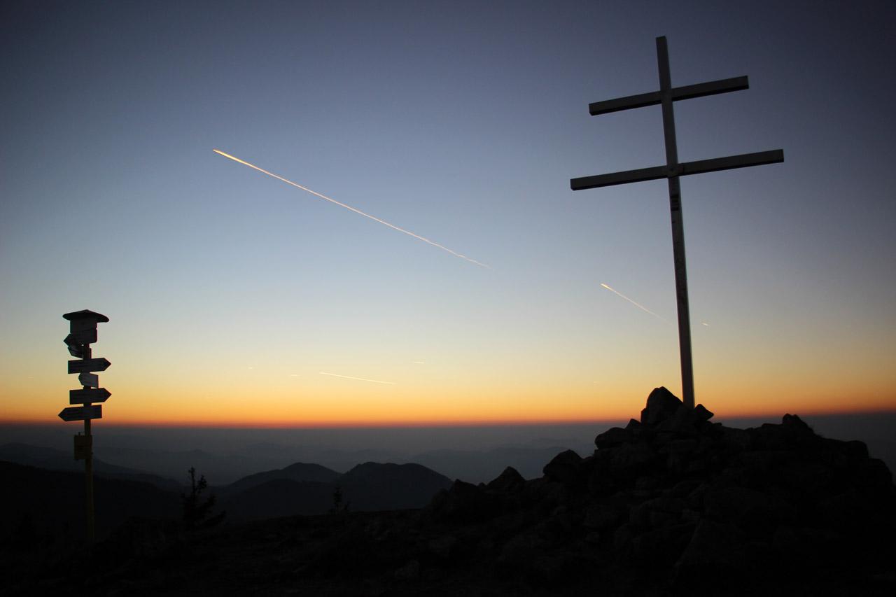 Západ slnka na Minčole