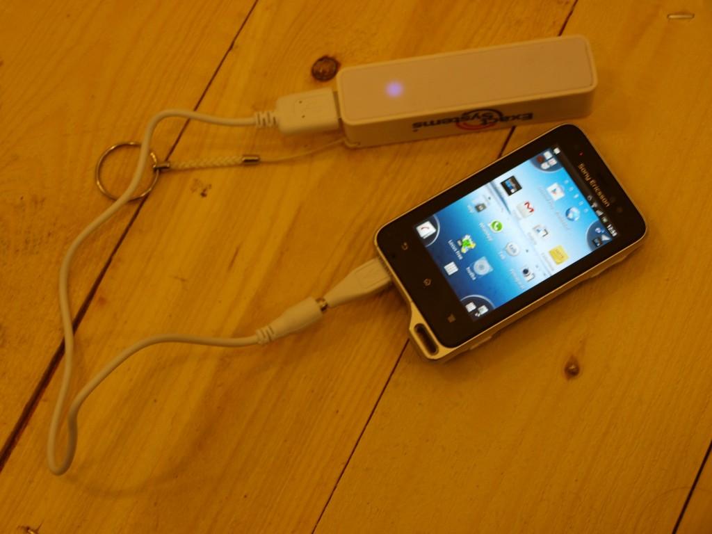 Sony ericson Xperia active dobíjanie telefónu cez power banku