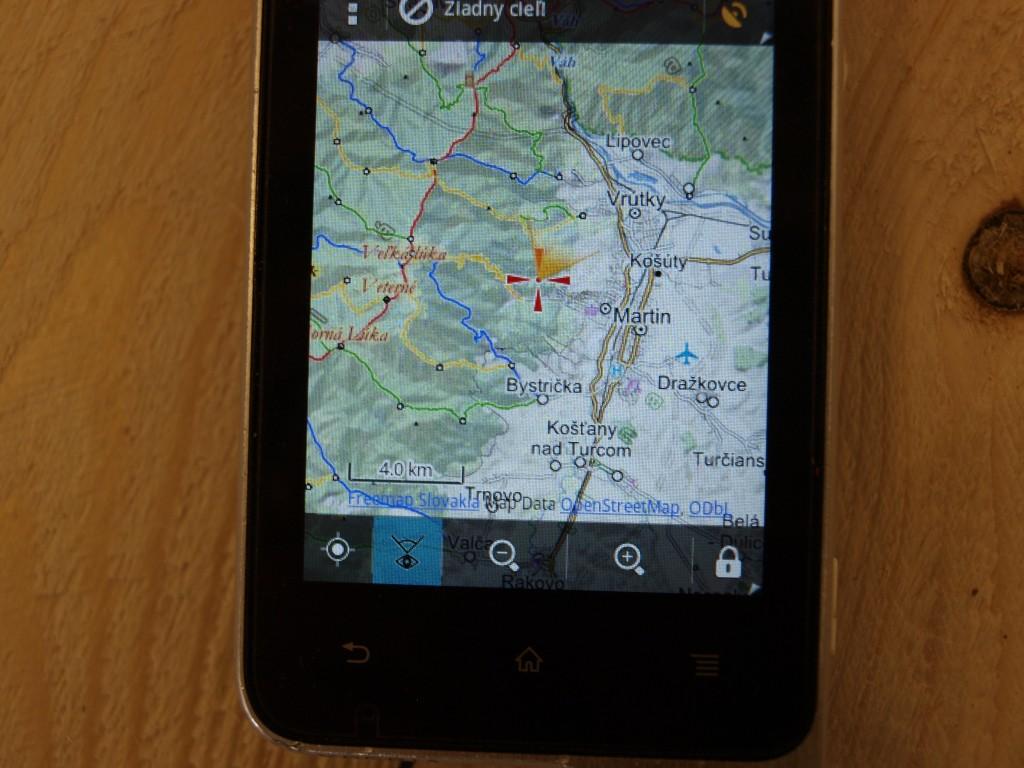 Sony Ericson Xperia active locus free map appka
