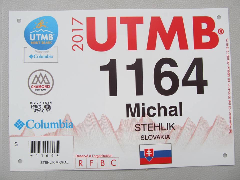 Mišo Stehlík na UTMB 2017 štartovné číslo