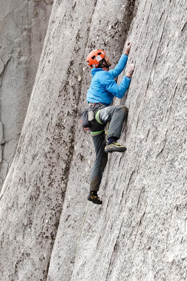 Jozef počas lezenia El Condor Pasa