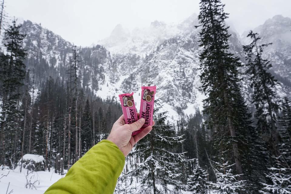 raw tyčinky vo Vysokých Tatrách