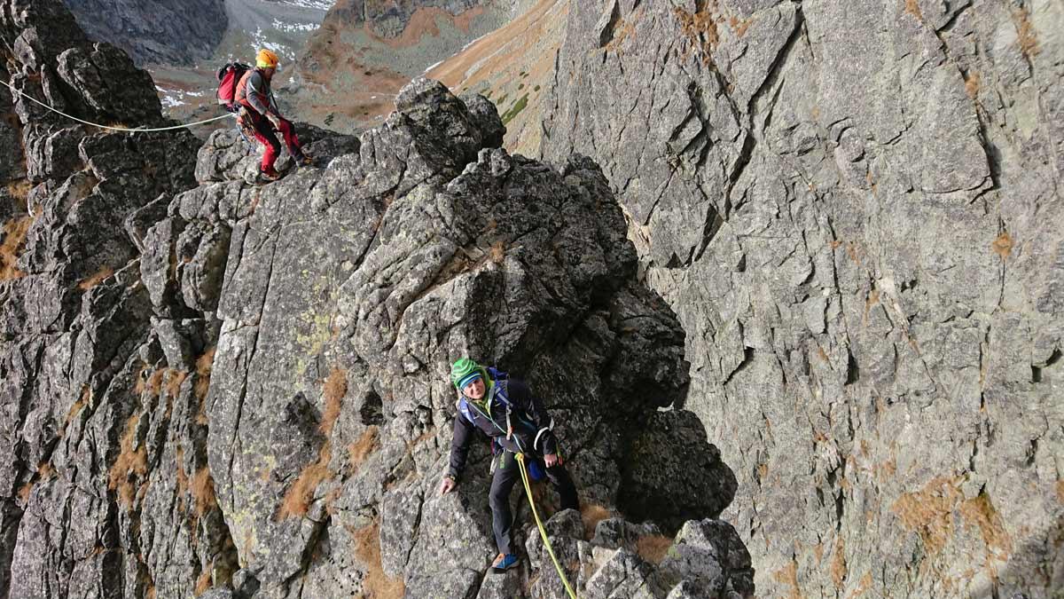 Jubilejná cesta na Velický Zub, deviata dĺžka v tejto horolezeckej ceste