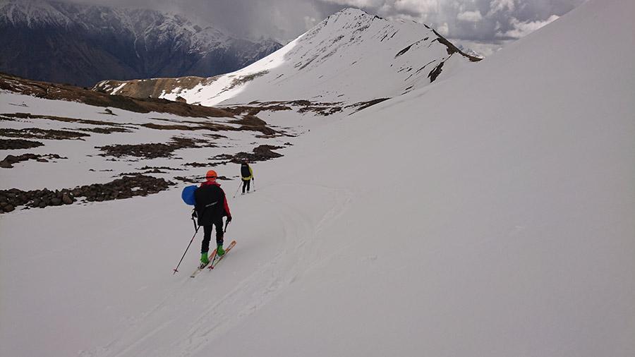 lyžovačka pod KAzbegom na Gergeti ľadovci