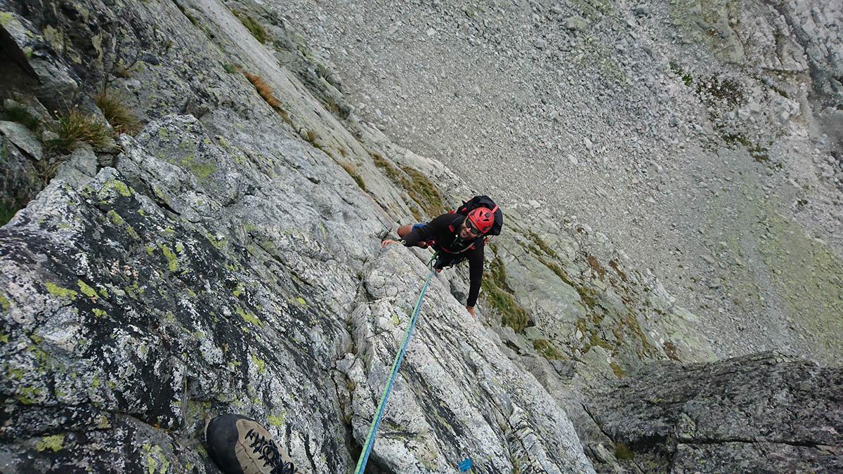 Tomáš lezie prvú dĺžku/ Šádek- Baranie Rohy