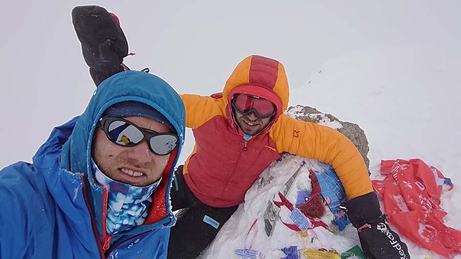 Sme na vrchole hory Elbrus/ kaukaz