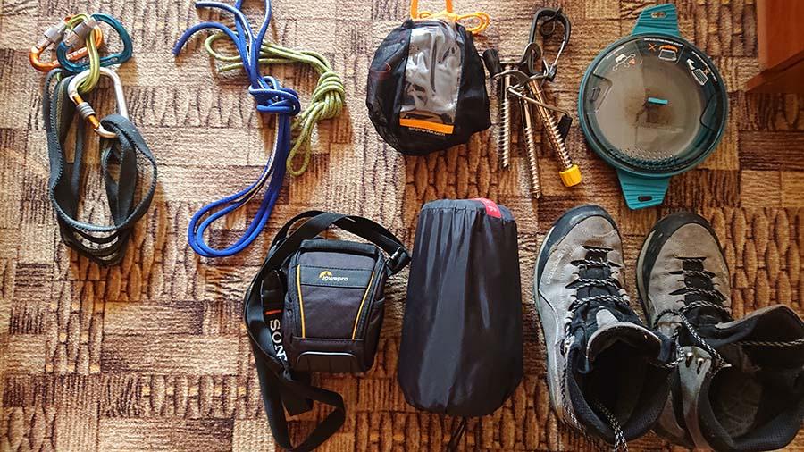Nadbytočné vecei pre vrchol Elbrus na Kaukaze