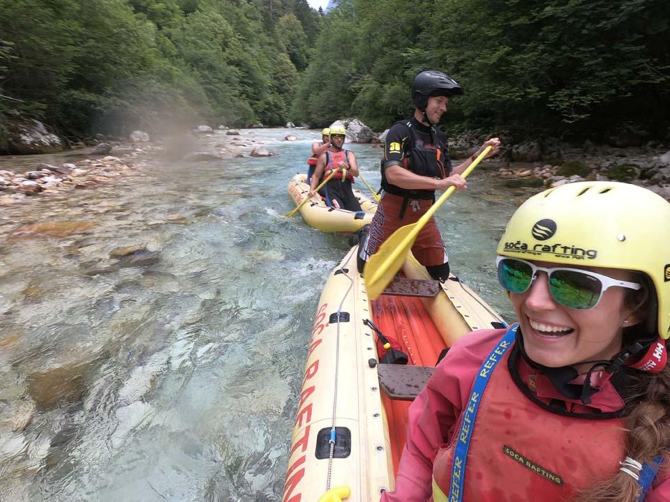 Splav rieky Soča, Slovinsko: srandičky