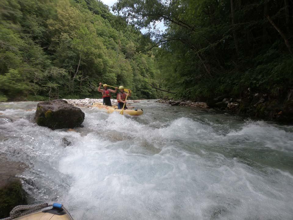 Rieka Soča: divoká voda