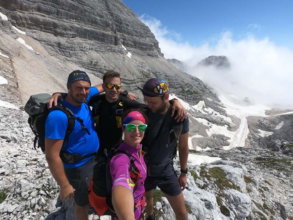 Julské alpy: celá banda pohromádke