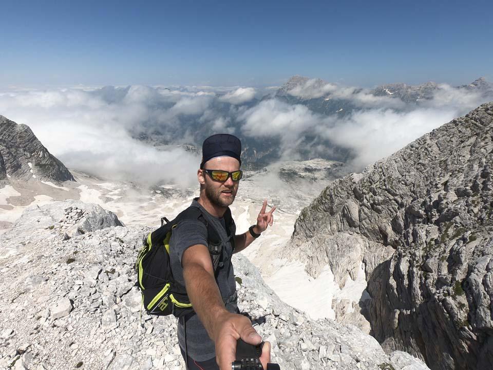 Julské alpy: Tyger si vybehol na vrchol hory Kanin a mal veru krásne výhľady