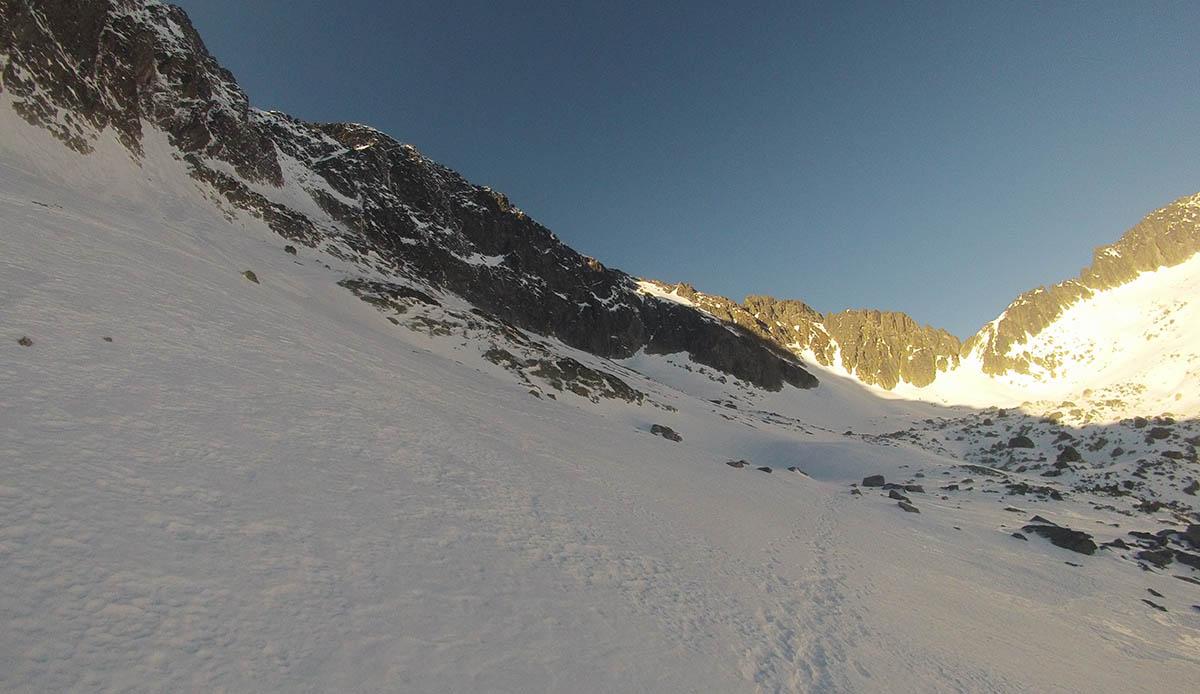 Dolinka piatich Spišských plies smerom na veľký Ľadový štít