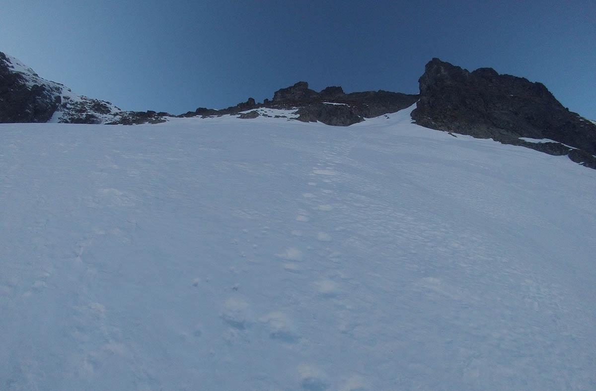 Rampa vedúca na Veľký Ľadový štít