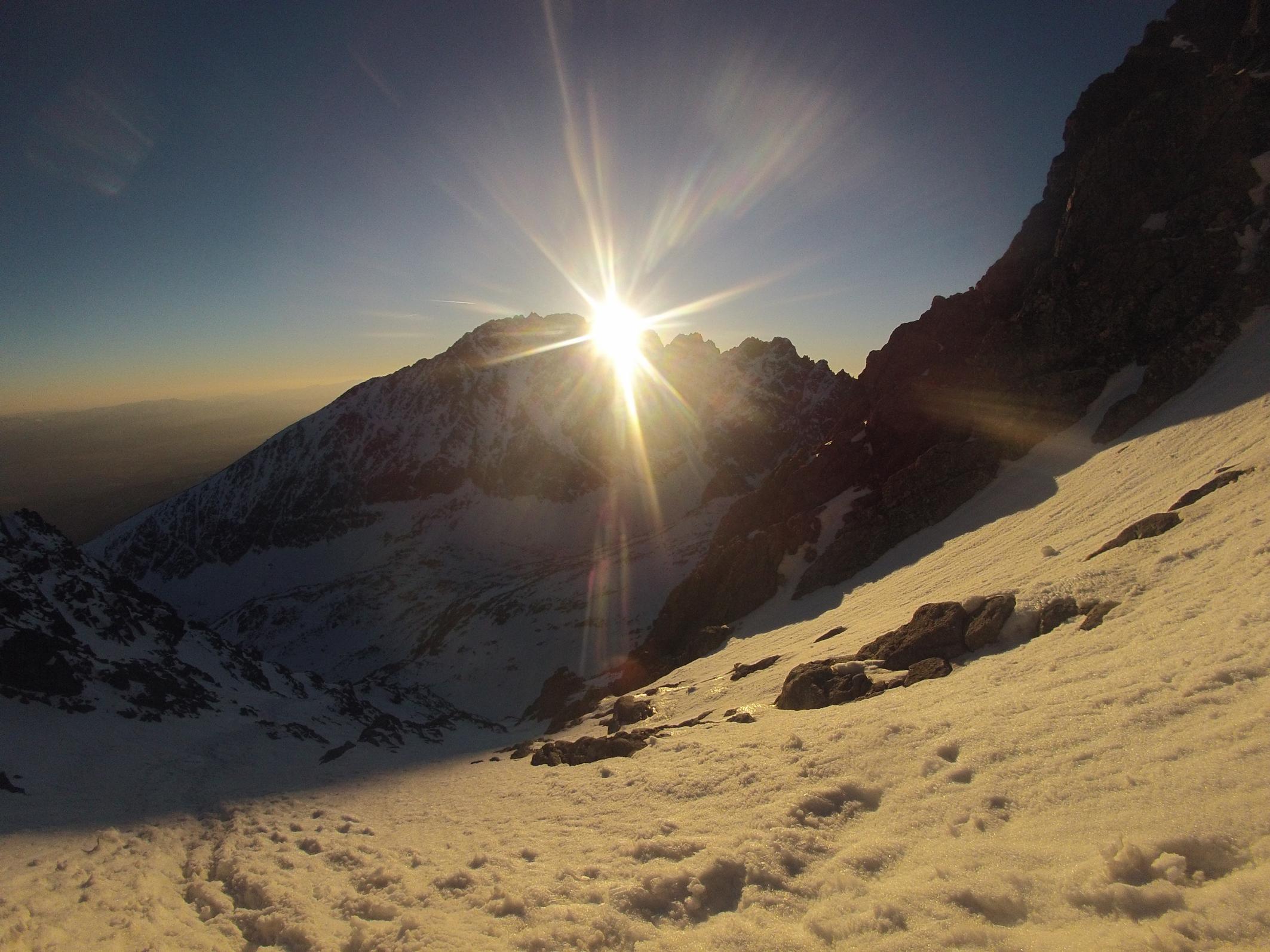 Zapad slnka z Gerlachovskeho Zlabu