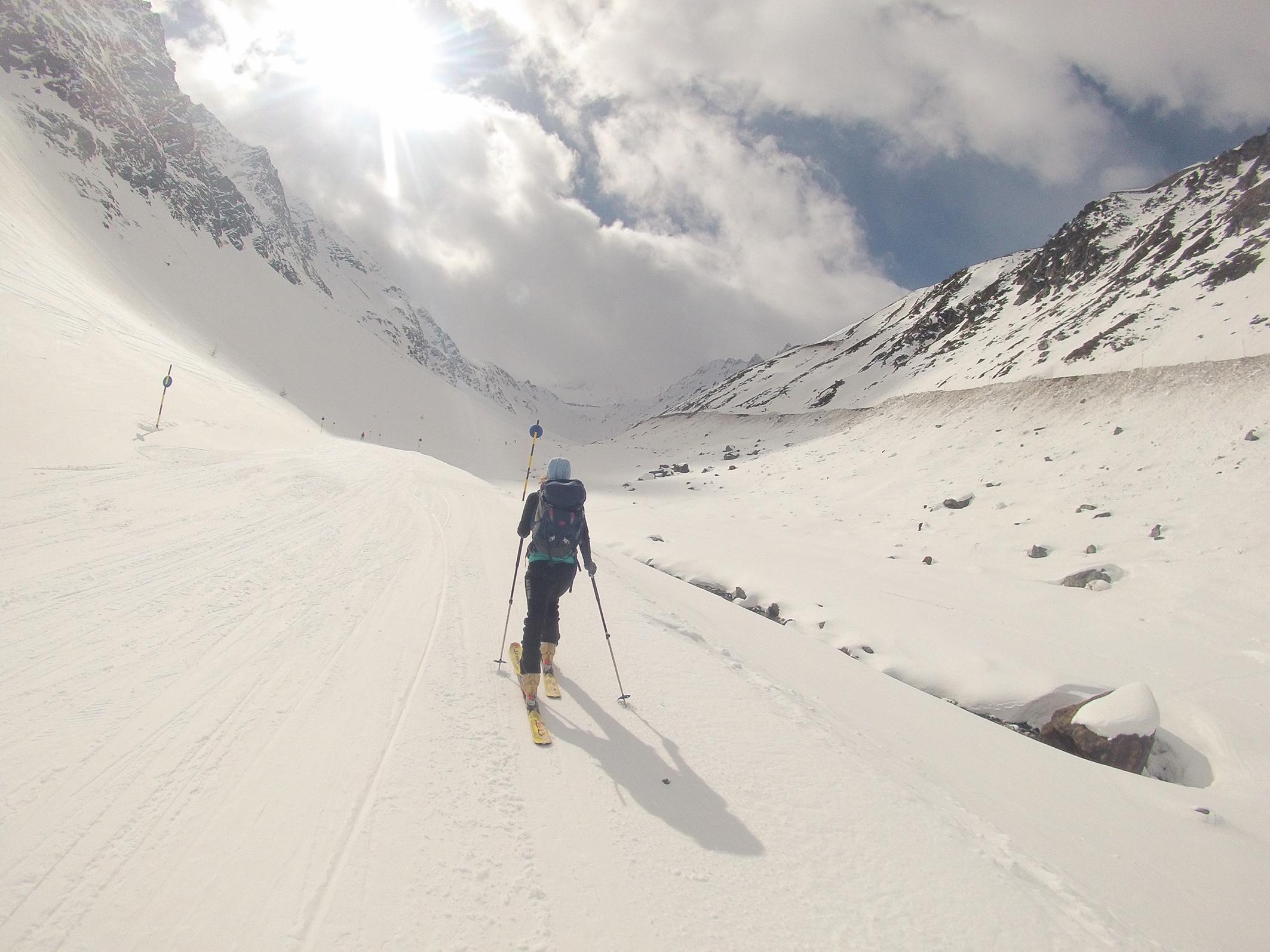 prvý aklimatizačný deň, v Alpách skoro som scípol od únavy an skialpoch