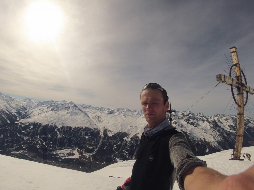 Konečne vrchol Soldenkogl 2904m.