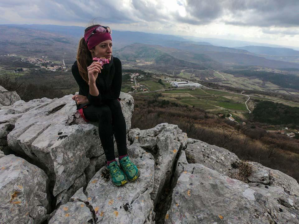 Raw tyčinky a beh v chorvátskom mestečku Roč