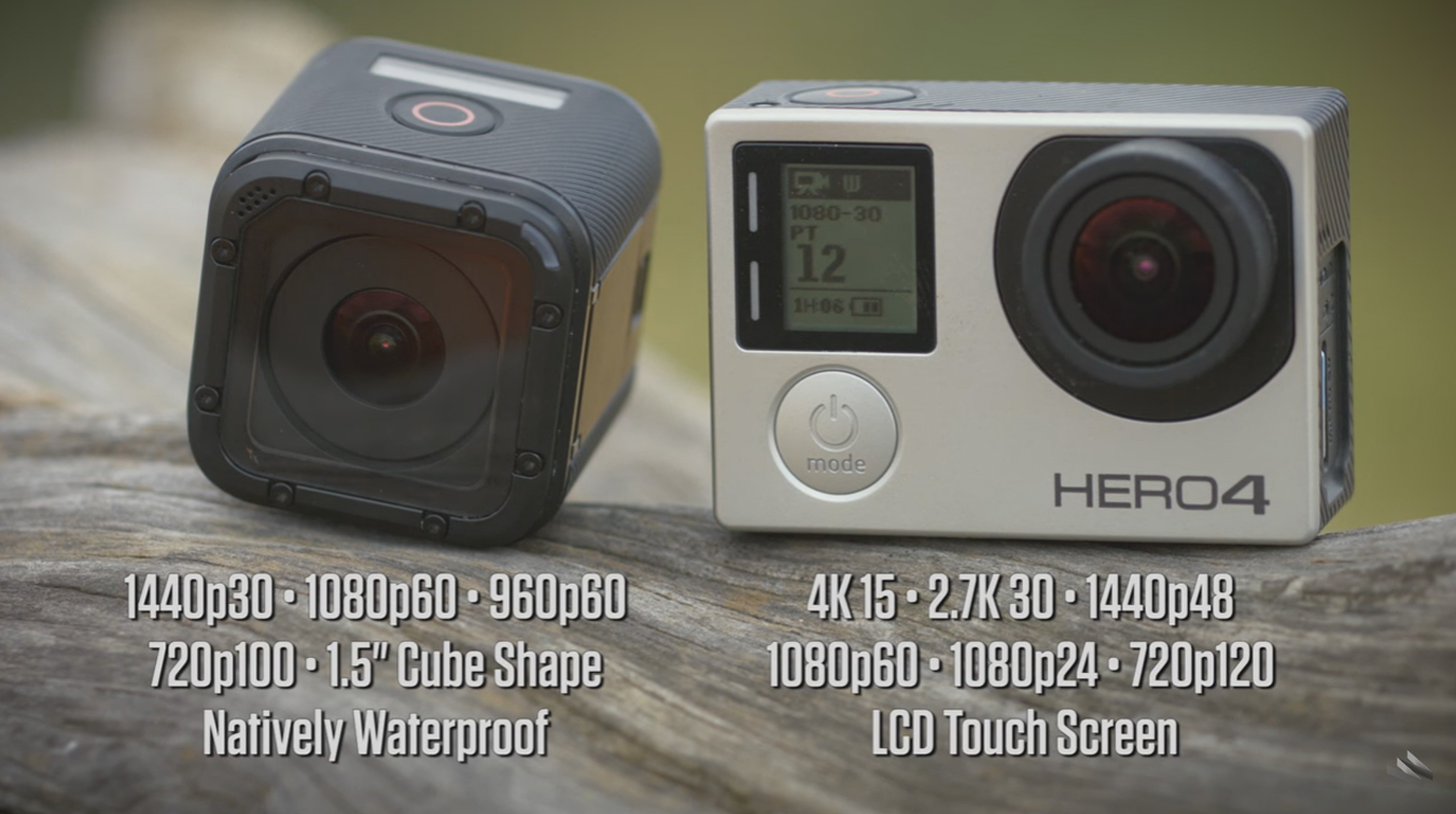 Porovnanie GoPro Hero 4 Session a GoPro Hero 4 Silver