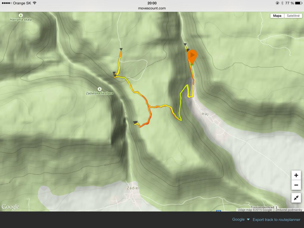Zádiel trail 12km, nastúpaných 550m