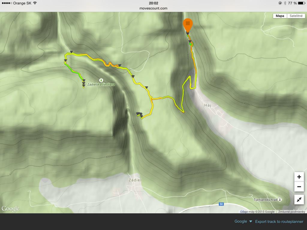 trail cca 14,5km, nastúpaných 950m