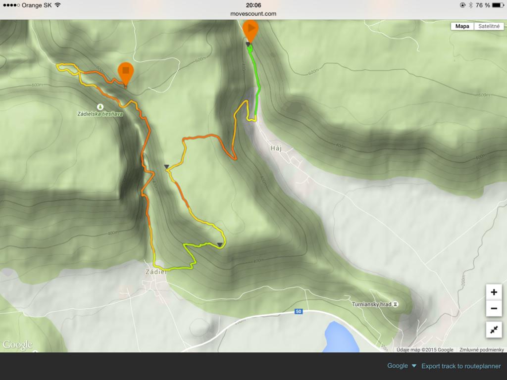 začiatok pri vodopádoch, smer po zelenej na planiny následne zbeh do Zádielu na parkovisko a tiesňavou smerom ku horárni...