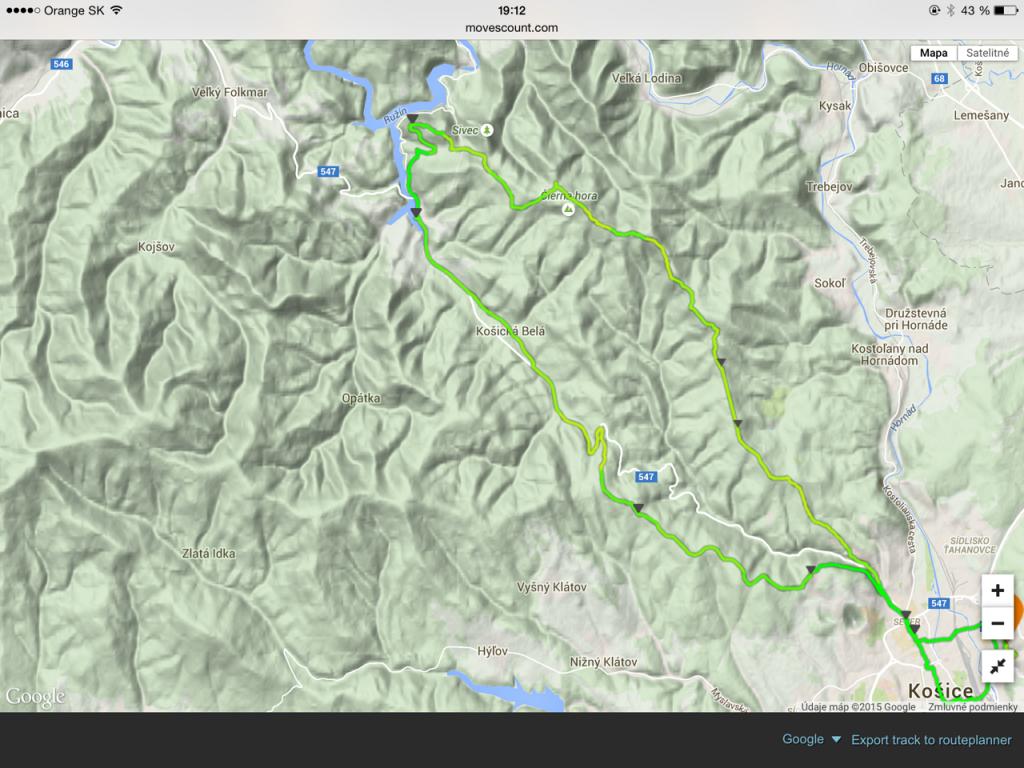 cca 60km, nastúpaných 1320 m