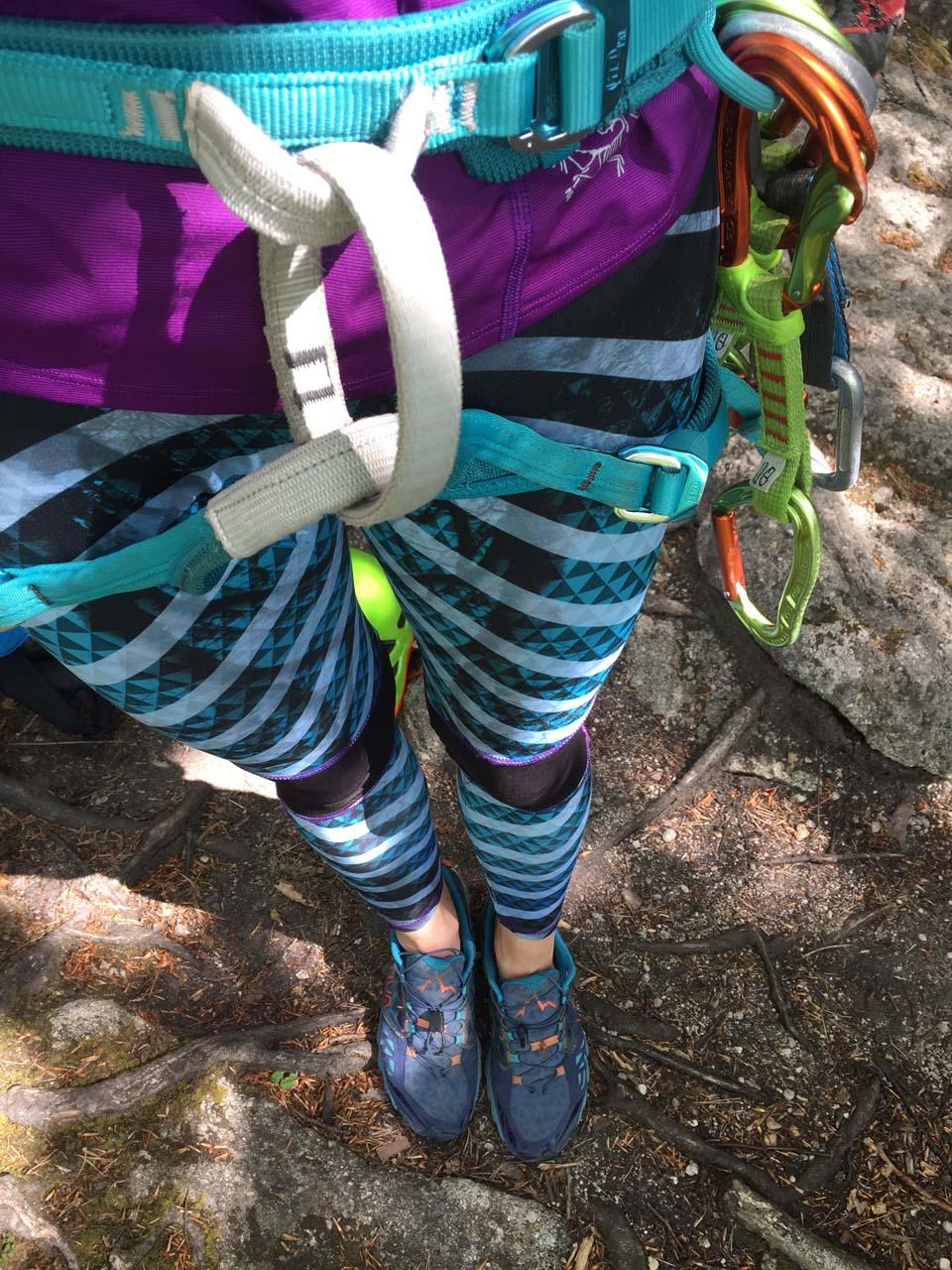 Športové legíny Ayola Sportswear pri lezení na slovenských skalkách