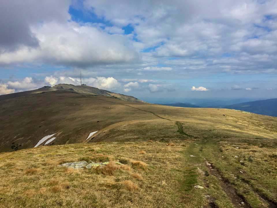 Hrebeňovka Nízkych Tatier Výhľad na Kráľovu Hoľu