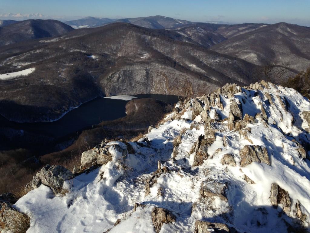 výhľad zo Sivca...v ľavo hore vidno aj Tatry pri dobre viditeľnosti...