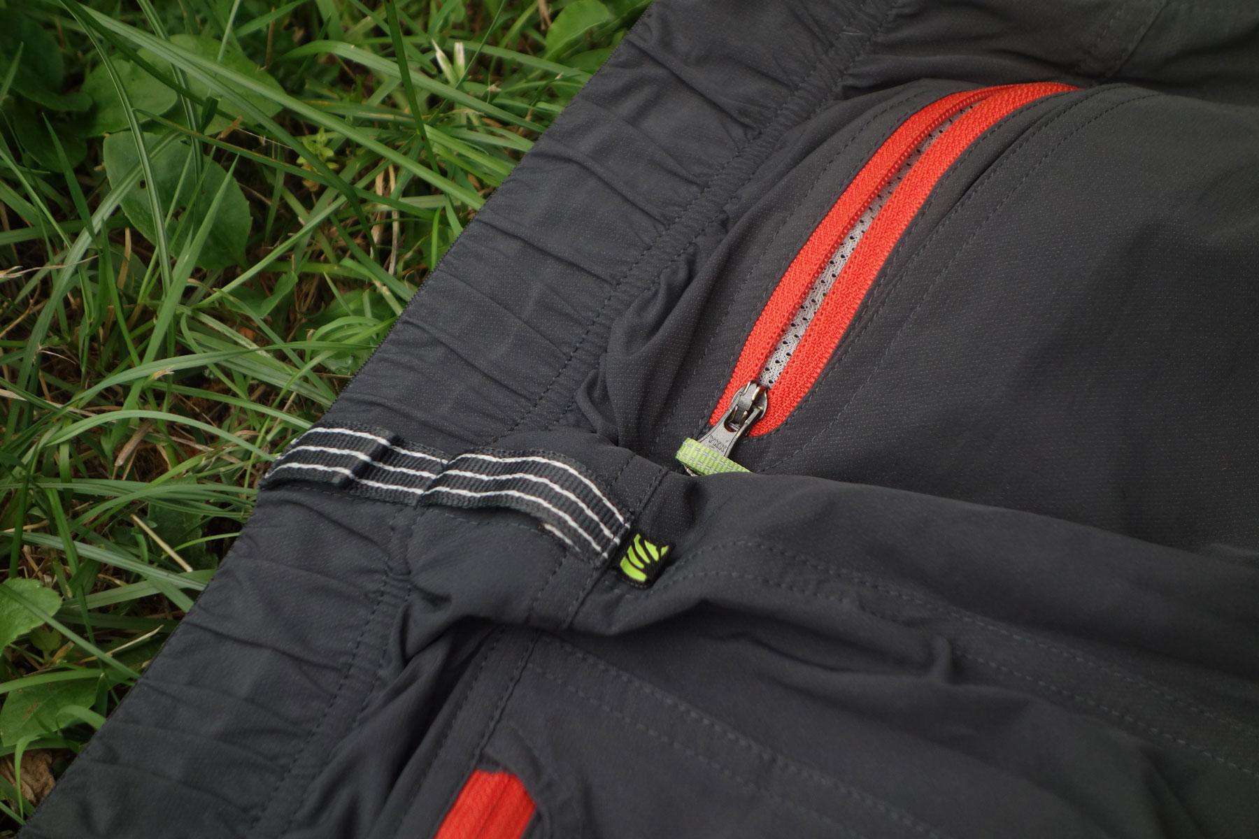 Karpos rock fly, turistické a lezecké nohavice, ykk zips na zadnom vrecku, recenzia