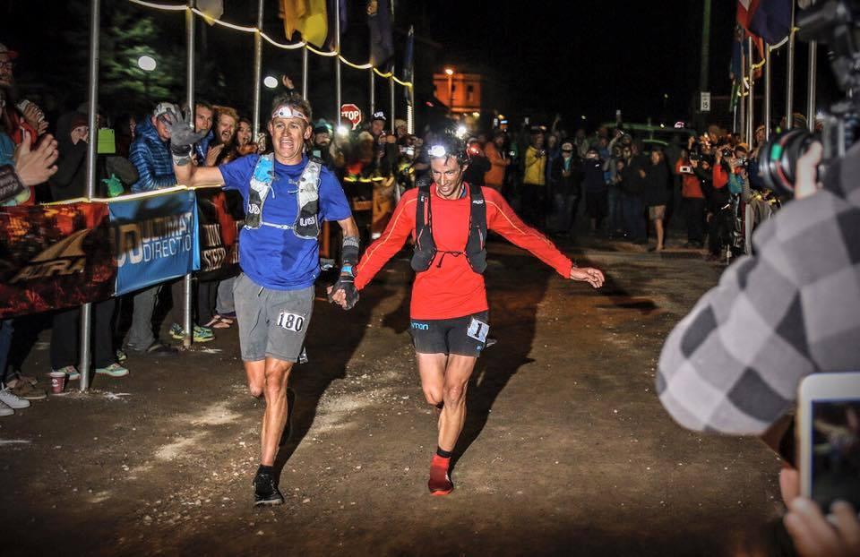 Expresky z hôr 20 - Jason Schlarv a Kilian Jornet si dobiehajú pre víťazstvo na Hardrock 100 2016, zdroj: FB page Kilian Jornet