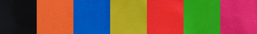 Návleky Záruby - Farebné možnosti návlekov: čierna, broskyňová, modrá, krikľavo žltá, oranžová, zelená, cyklaménová