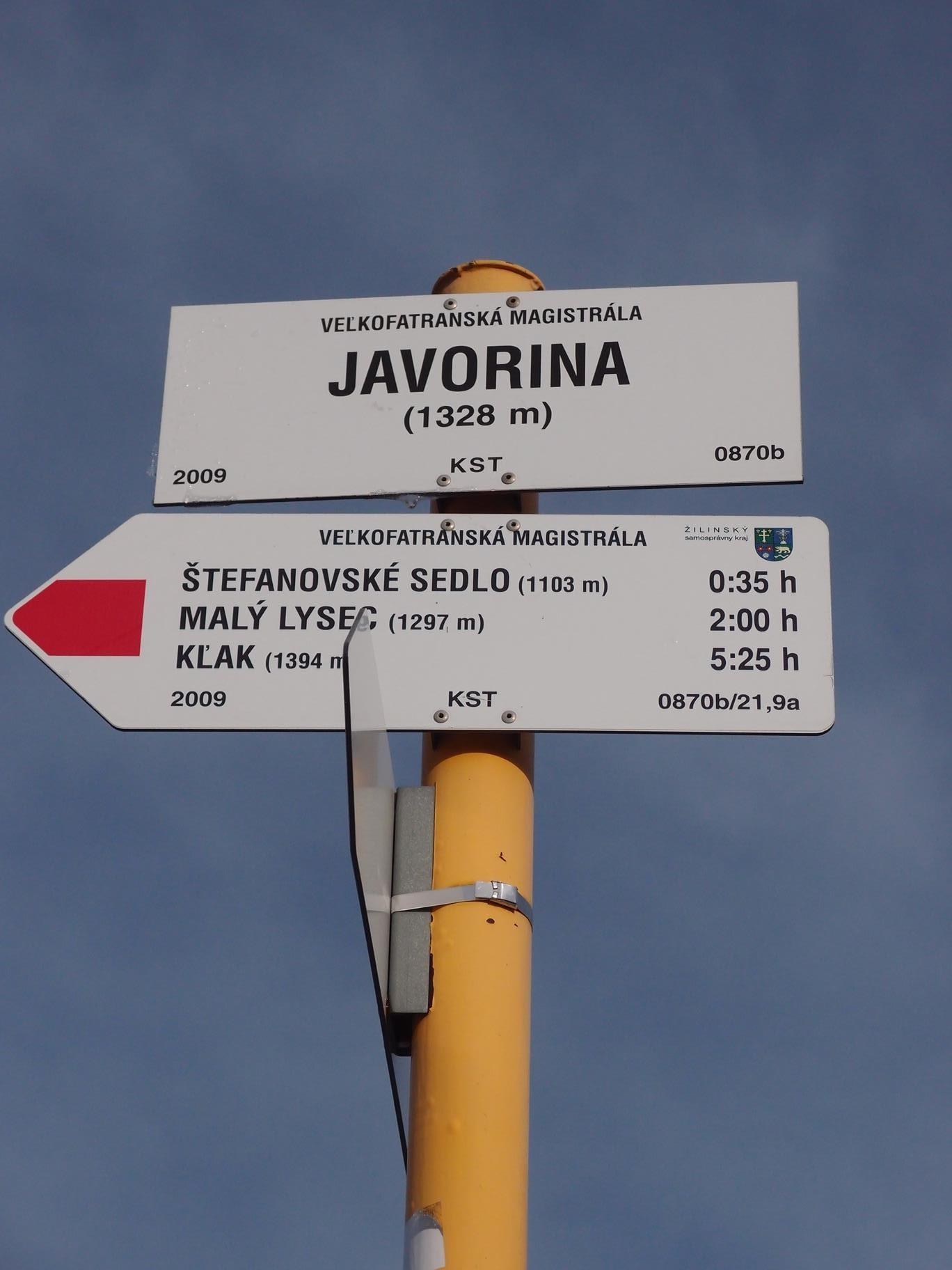 Javorina (1328 m n m), Veľká Fatra