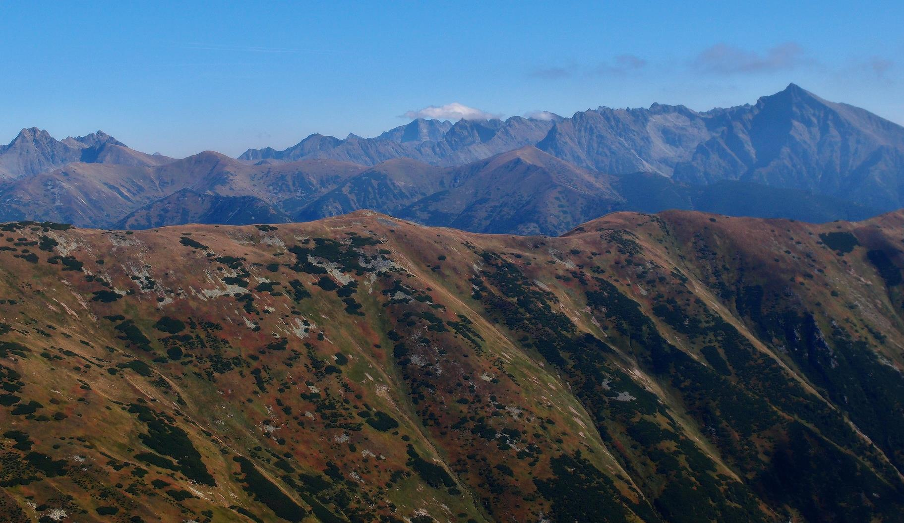 Vysoké Tatry z pod Bystrej (© Thom Krajča)
