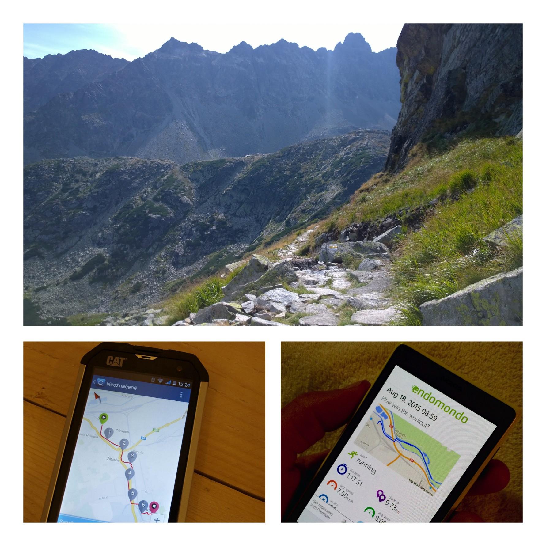 Smartfón na horách