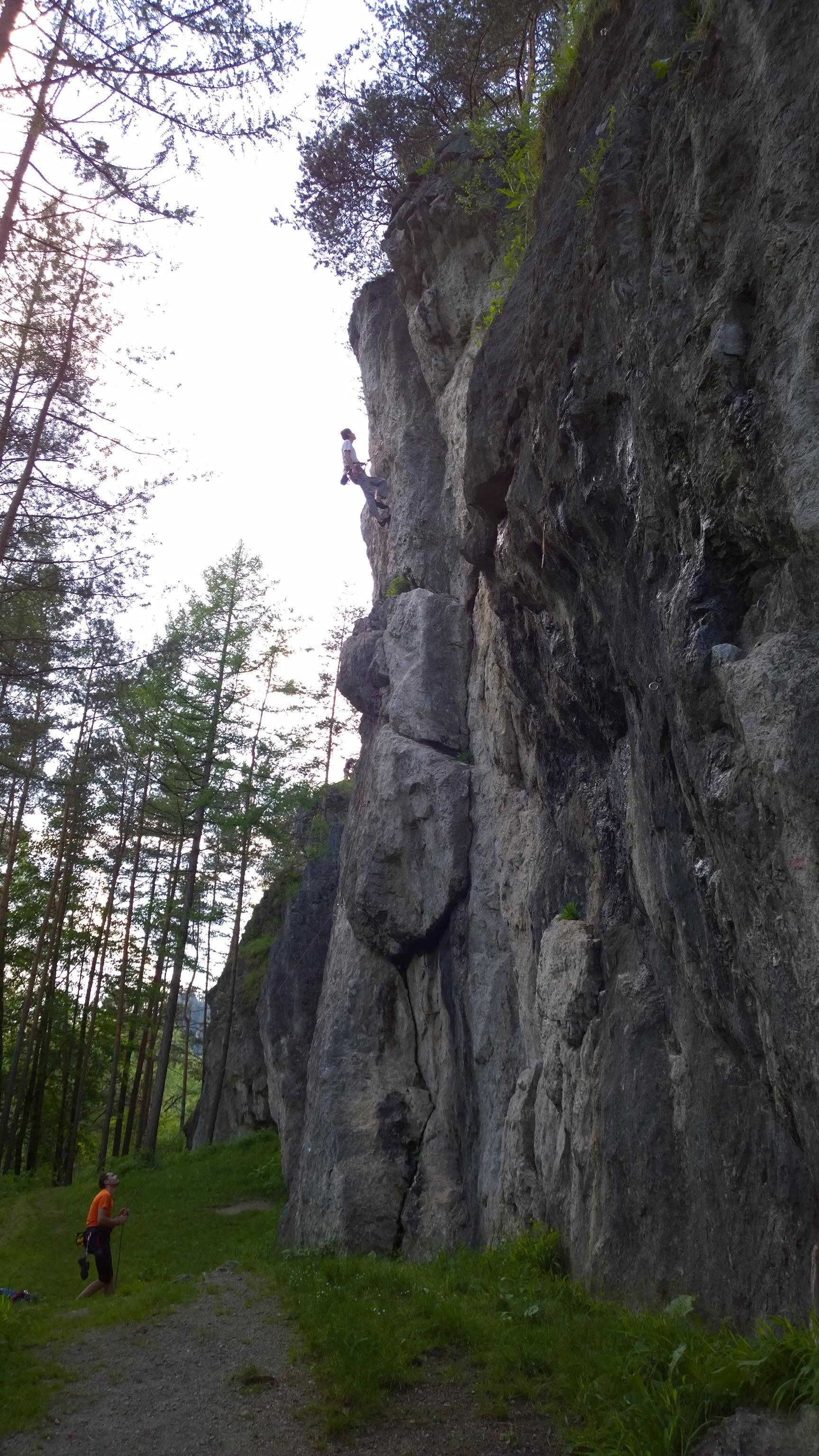 skaly v lezeckej oblasti Lietačky