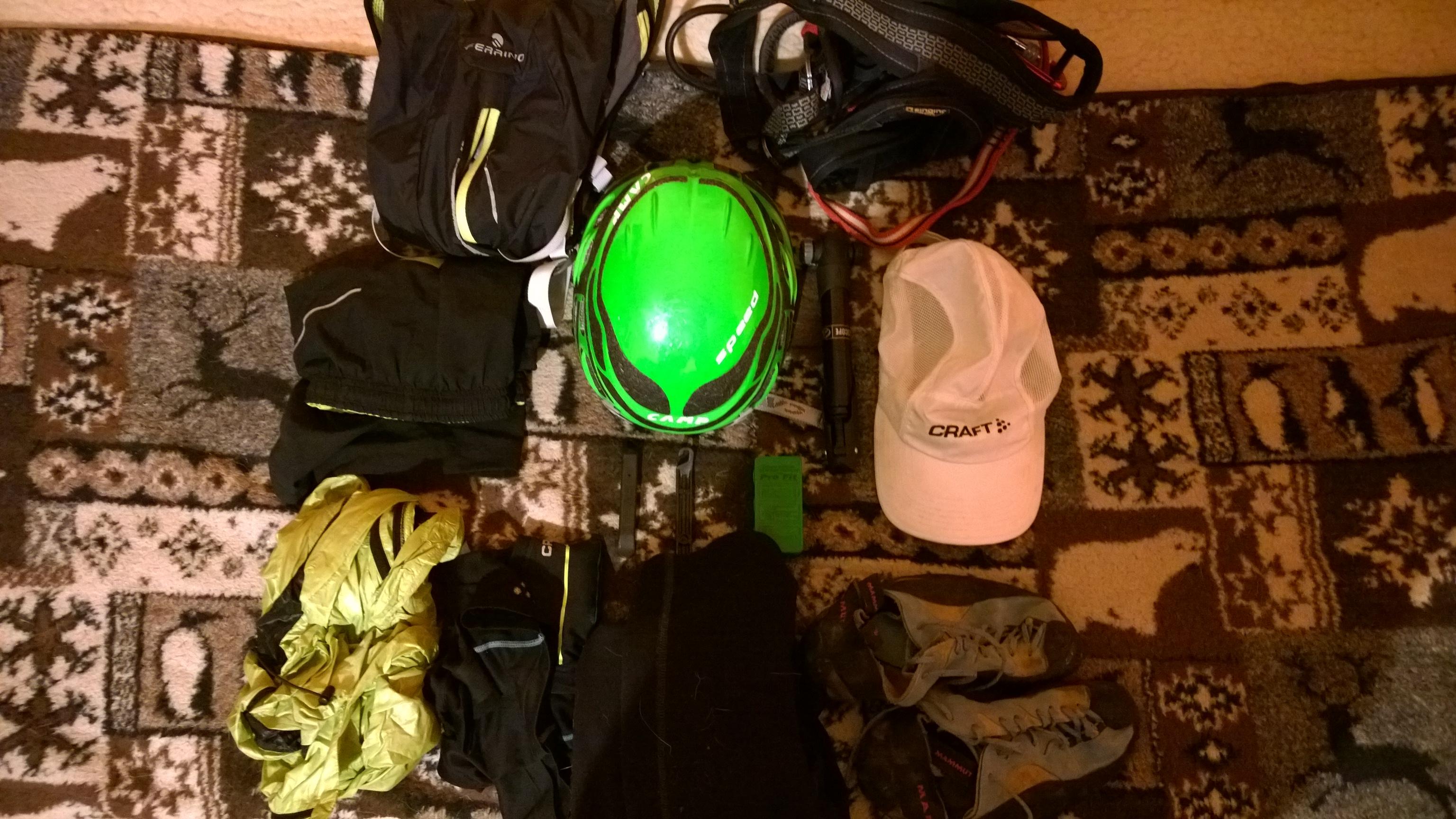 vybava na horolezecký triatlon