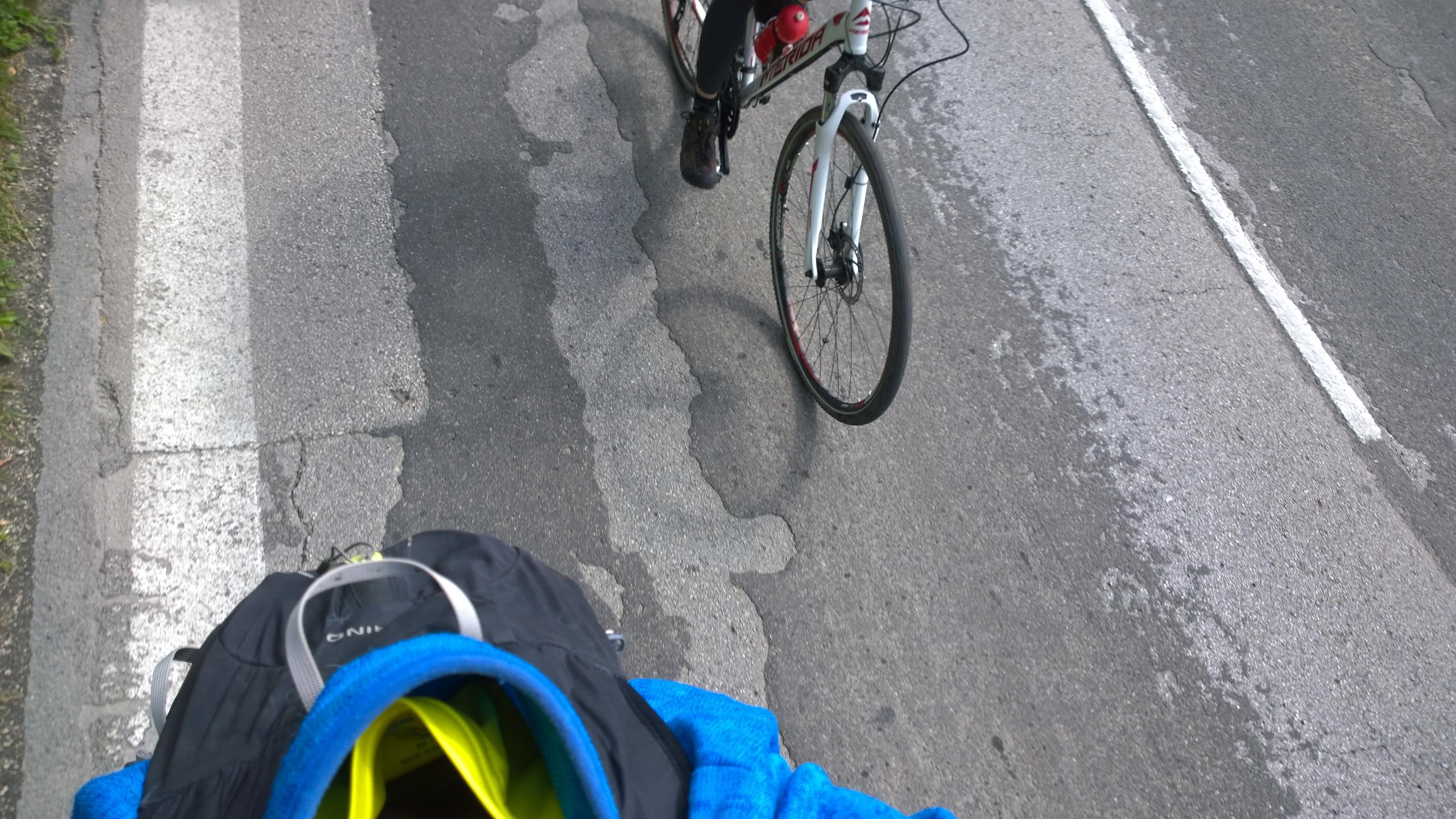 pohlad za mna pocas startu triatlonu