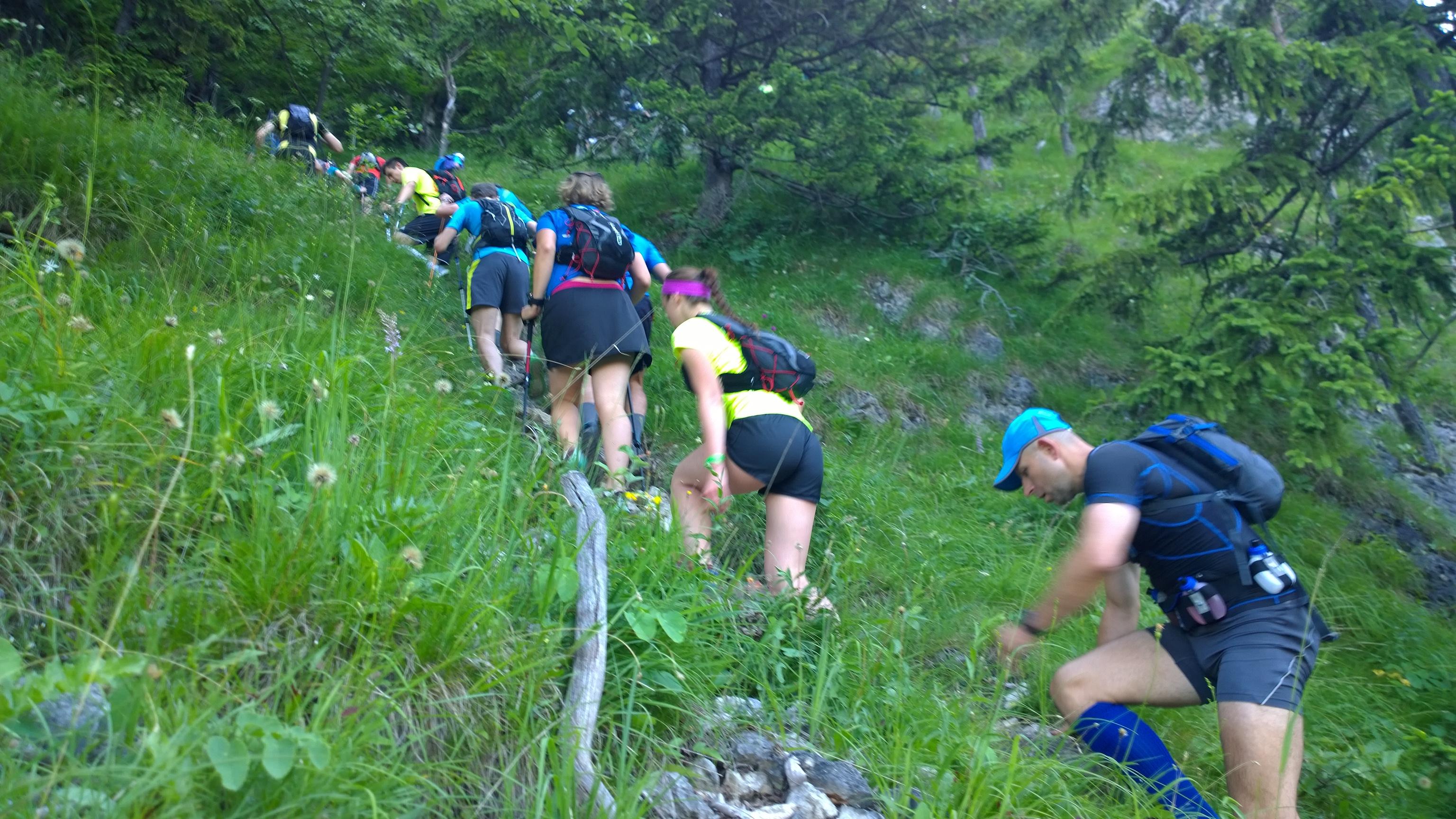 Bobča valí hore kopcom smer Boboty