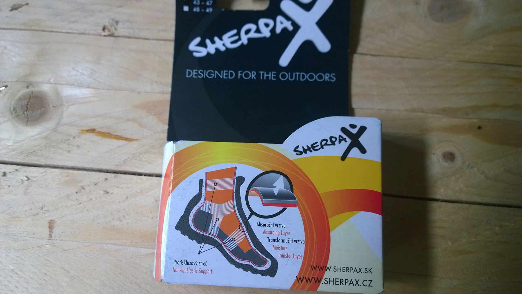 sherpa x ponožky a ich zloženie