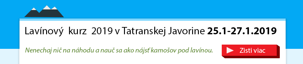 Lavinový kurz tyger.sk a avalanche.sk v tatranskej javorine 2019
