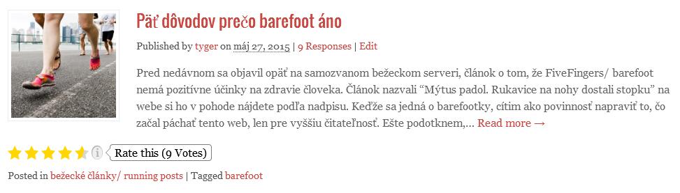 5 dovodov preco barefoot ano
