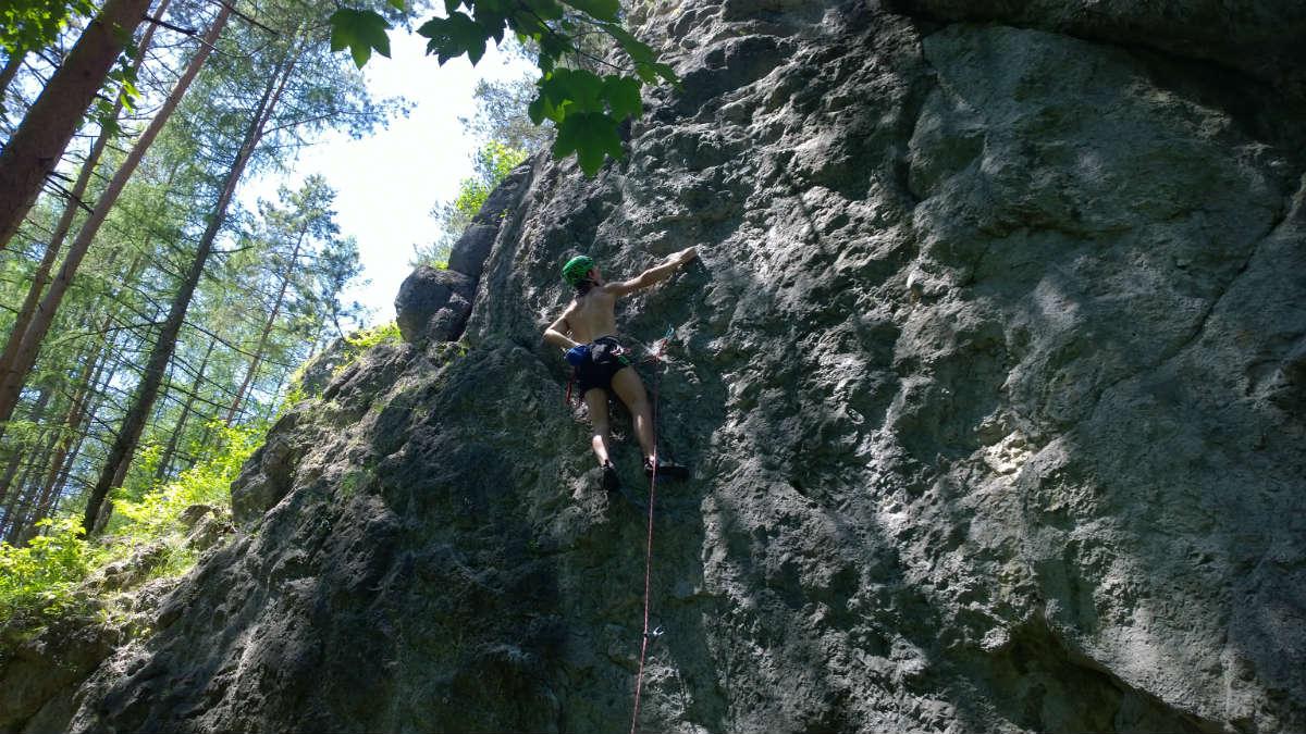 Bežecké kraťasy Craft Focus počas lezenia na Lietačkach