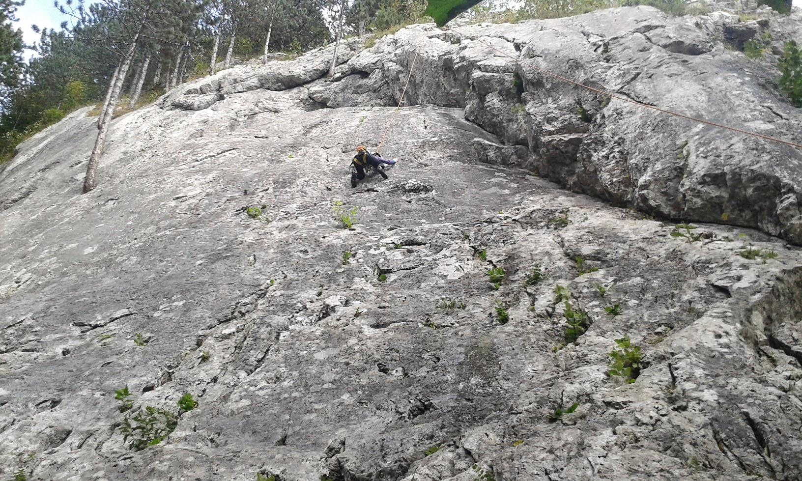 Belá lezecká oblasť pre začiatočníkov