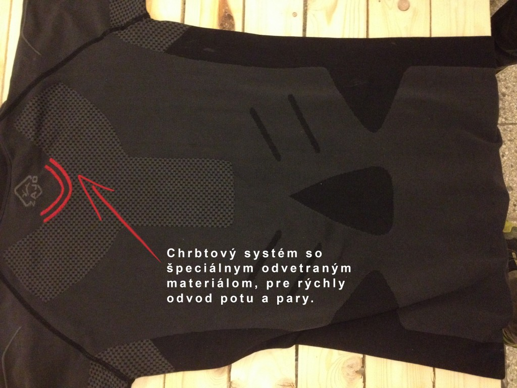 Outdoor recenzia: Zajo Peak Tshirt . Chrbtový systém.