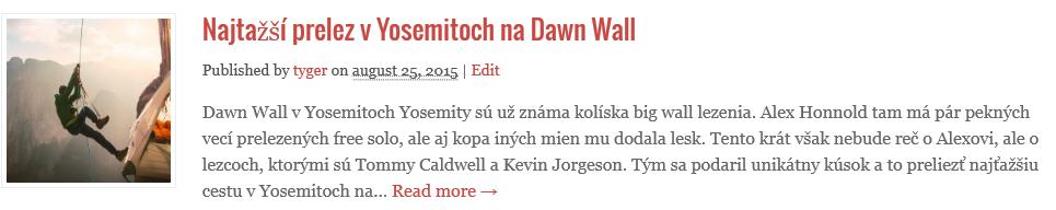 Dawn wall najťažší prelezs v yosemitoch