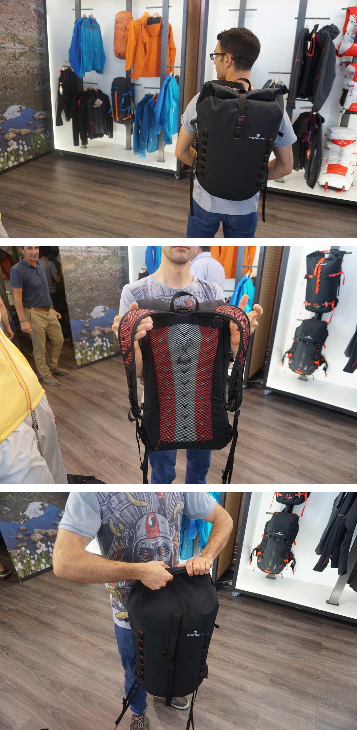 Ferrino batoh vhodný do mesta s membránou Outdry