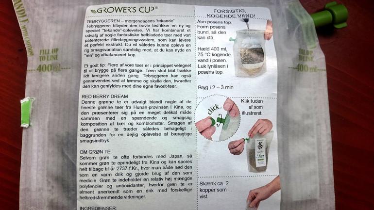Growers cup príprava čaju